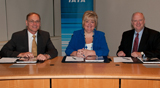 Signature ceremony - Guenther Matschnigg, IATA, Nancy Graham, ICAO, Don Wykoff, IFALPA